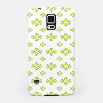 Bright Leaves Motif Print Pattern Design Samsung Case obraz miniatury