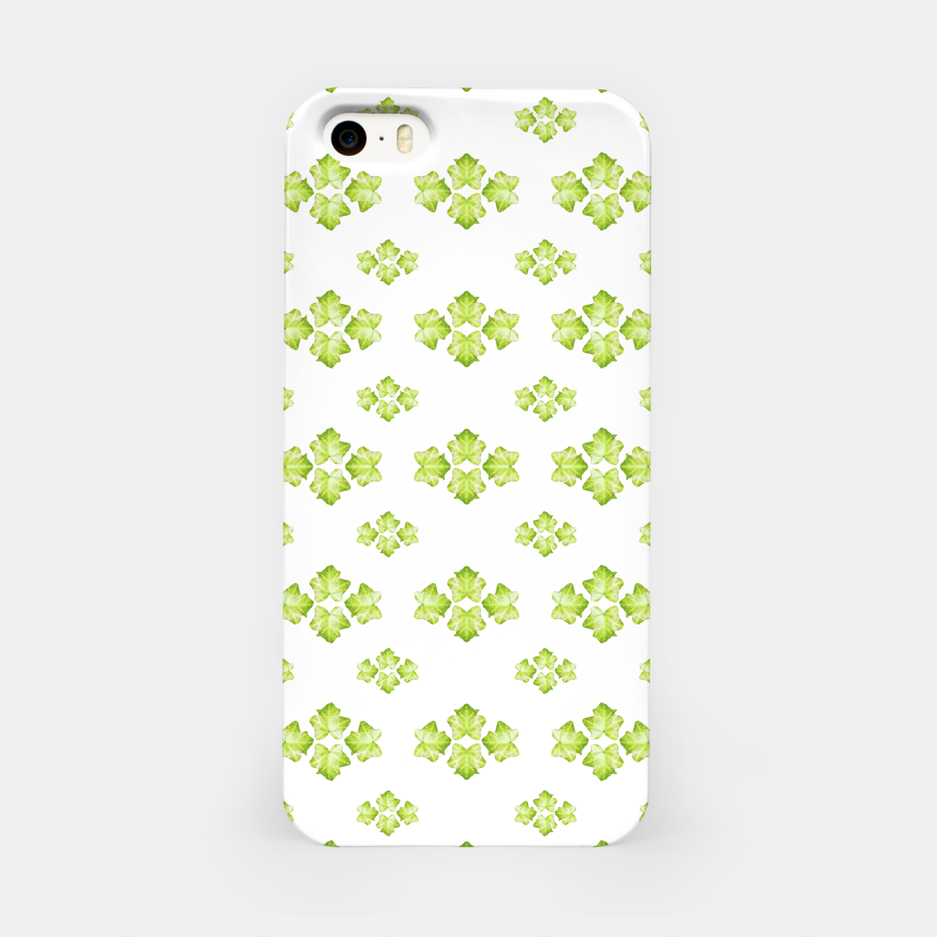 Zdjęcie Bright Leaves Motif Print Pattern Design iPhone Case - Live Heroes