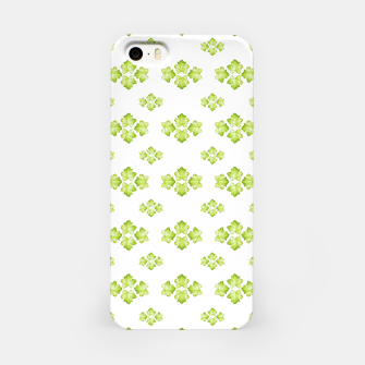 Bright Leaves Motif Print Pattern Design iPhone Case obraz miniatury