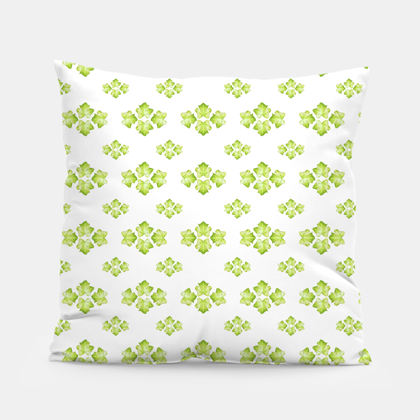 Zdjęcie Bright Leaves Motif Print Pattern Design Pillow - Live Heroes