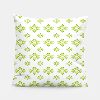 Bright Leaves Motif Print Pattern Design Pillow obraz miniatury