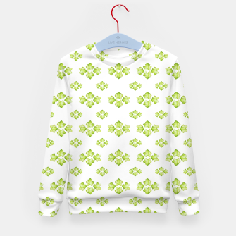 Bright Leaves Motif Print Pattern Design Kid's sweater obraz miniatury