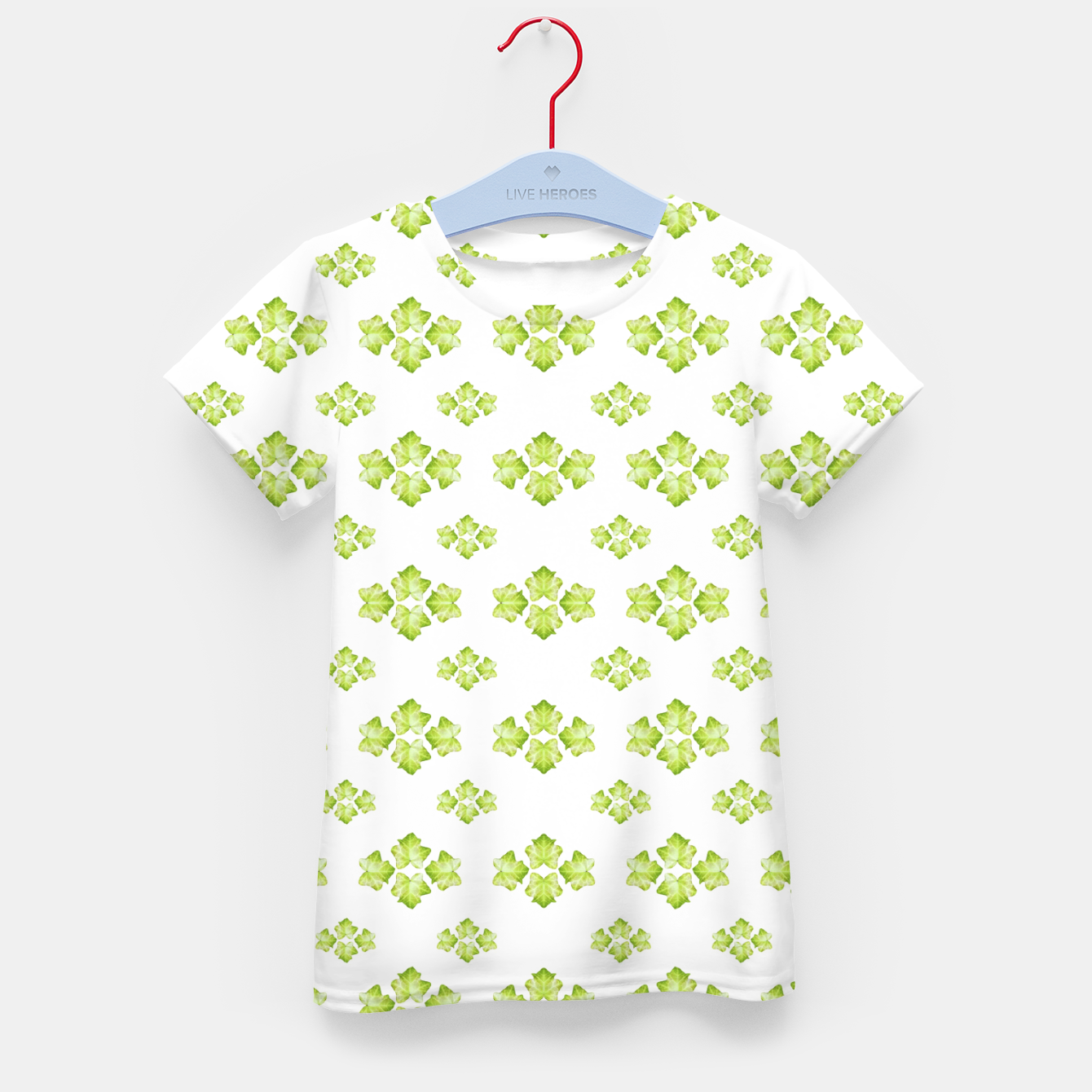 Zdjęcie Bright Leaves Motif Print Pattern Design Kid's t-shirt - Live Heroes