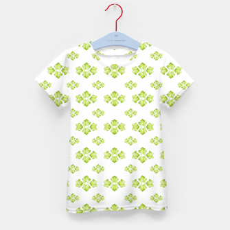 Bright Leaves Motif Print Pattern Design Kid's t-shirt obraz miniatury