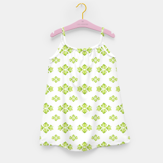 Thumbnail image of Bright Leaves Motif Print Pattern Design Girl's dress, Live Heroes