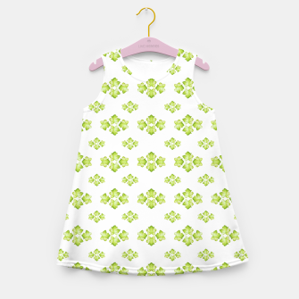 Thumbnail image of Bright Leaves Motif Print Pattern Design Girl's summer dress, Live Heroes
