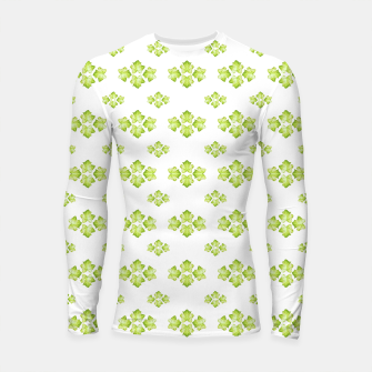 Thumbnail image of Bright Leaves Motif Print Pattern Design Longsleeve rashguard , Live Heroes