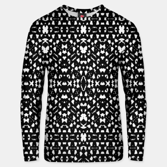 Black and White Ethnic Print Unisex sweater obraz miniatury