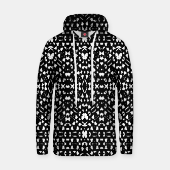 Black and White Ethnic Print Hoodie obraz miniatury