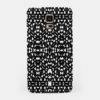 Black and White Ethnic Print Samsung Case obraz miniatury