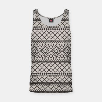 Miniatur Farmhouse Oriental Traditional Moroccan Style Design Tank Top, Live Heroes