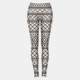 Miniatur Farmhouse Oriental Traditional Moroccan Style Design Leggings, Live Heroes