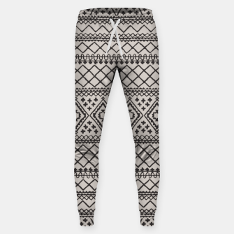 Miniatur Farmhouse Oriental Traditional Moroccan Style Design Sweatpants, Live Heroes