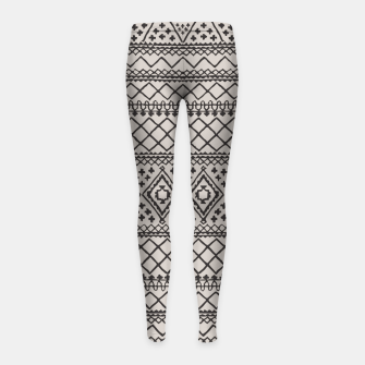 Miniatur Farmhouse Oriental Traditional Moroccan Style Design Girl's leggings, Live Heroes