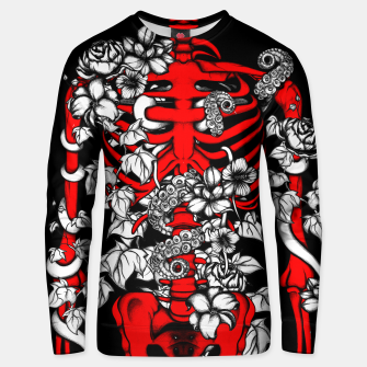 Thumbnail image of Bones and Flowers Unisex sweater, Live Heroes
