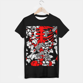 Thumbnail image of Bones and Flowers T-shirt regular, Live Heroes