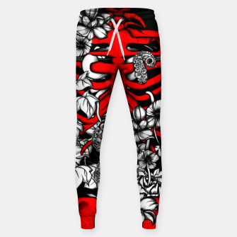 Thumbnail image of Bones and Flowers Sweatpants, Live Heroes
