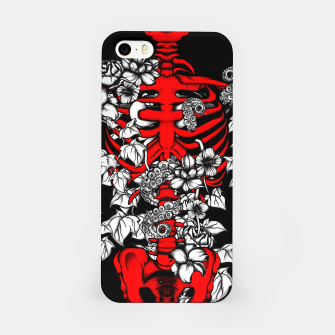 Miniatur Bones and Flowers iPhone Case, Live Heroes