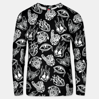 Thumbnail image of Dark Pattern Unisex sweater, Live Heroes