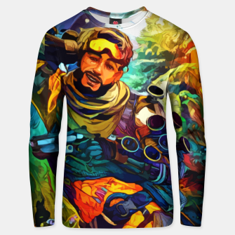Thumbnail image of Holographic trikster Sudadera unisex, Live Heroes