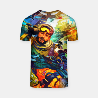 Thumbnail image of Holographic trikster Camiseta, Live Heroes