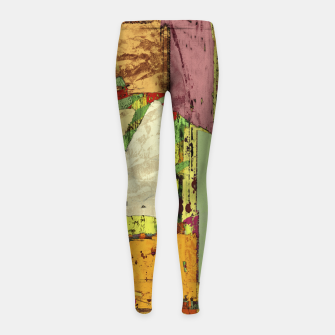 Thumbnail image of Paper trail Girl's leggings, Live Heroes