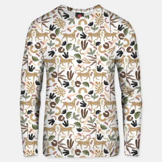 Leopards in modern nature UI Sudadera unisex miniature