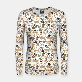 Leopards in modern nature UI Sudadera para mujeres miniature