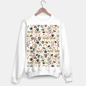 Miniatur Leopards in modern nature UI Sudadera regular, Live Heroes