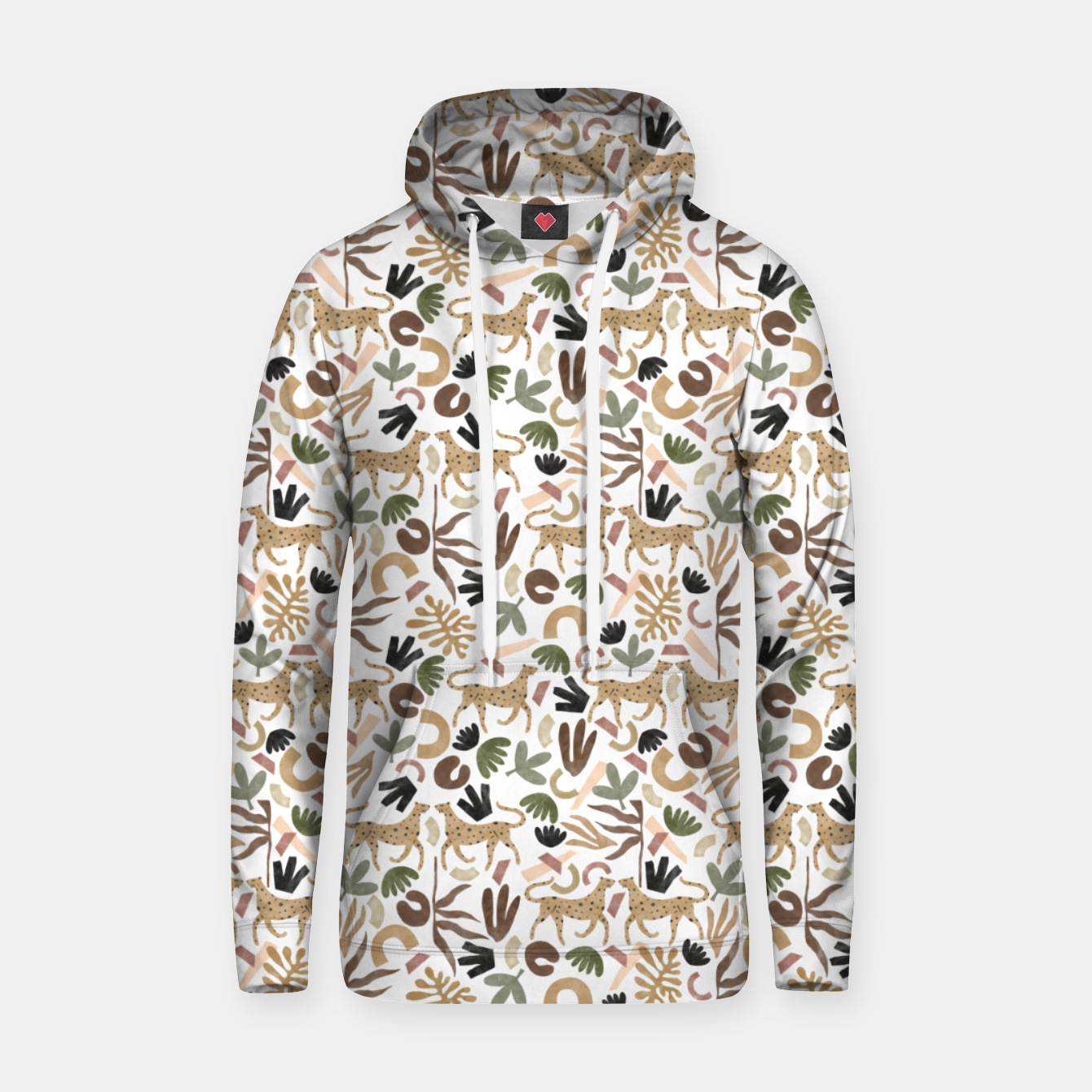 Image of Leopards in modern nature UI Sudadera con capucha - Live Heroes