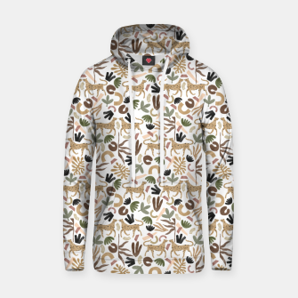 Leopards in modern nature UI Sudadera con capucha miniature