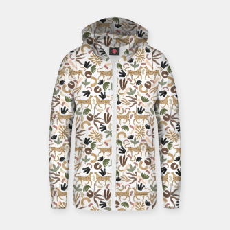 Miniatur Leopards in modern nature UI Sudadera con capucha y cremallera , Live Heroes