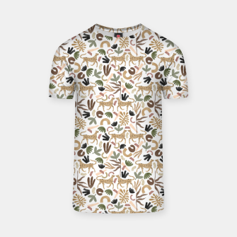 Leopards in modern nature UI Camiseta Bild der Miniatur