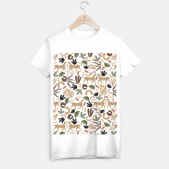 Leopards in modern nature UI Camiseta Regular Bild der Miniatur
