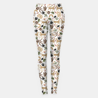 Leopards in modern nature UI Leggings thumbnail image