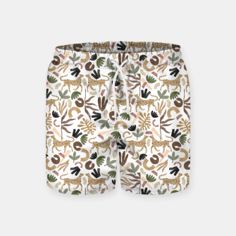 Leopards in modern nature UI Pantalones de baño miniature