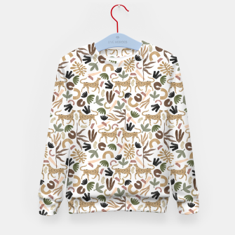 Leopards in modern nature UI Sudadera para niños miniature