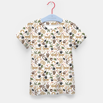 Leopards in modern nature UI Camiseta para niños miniature