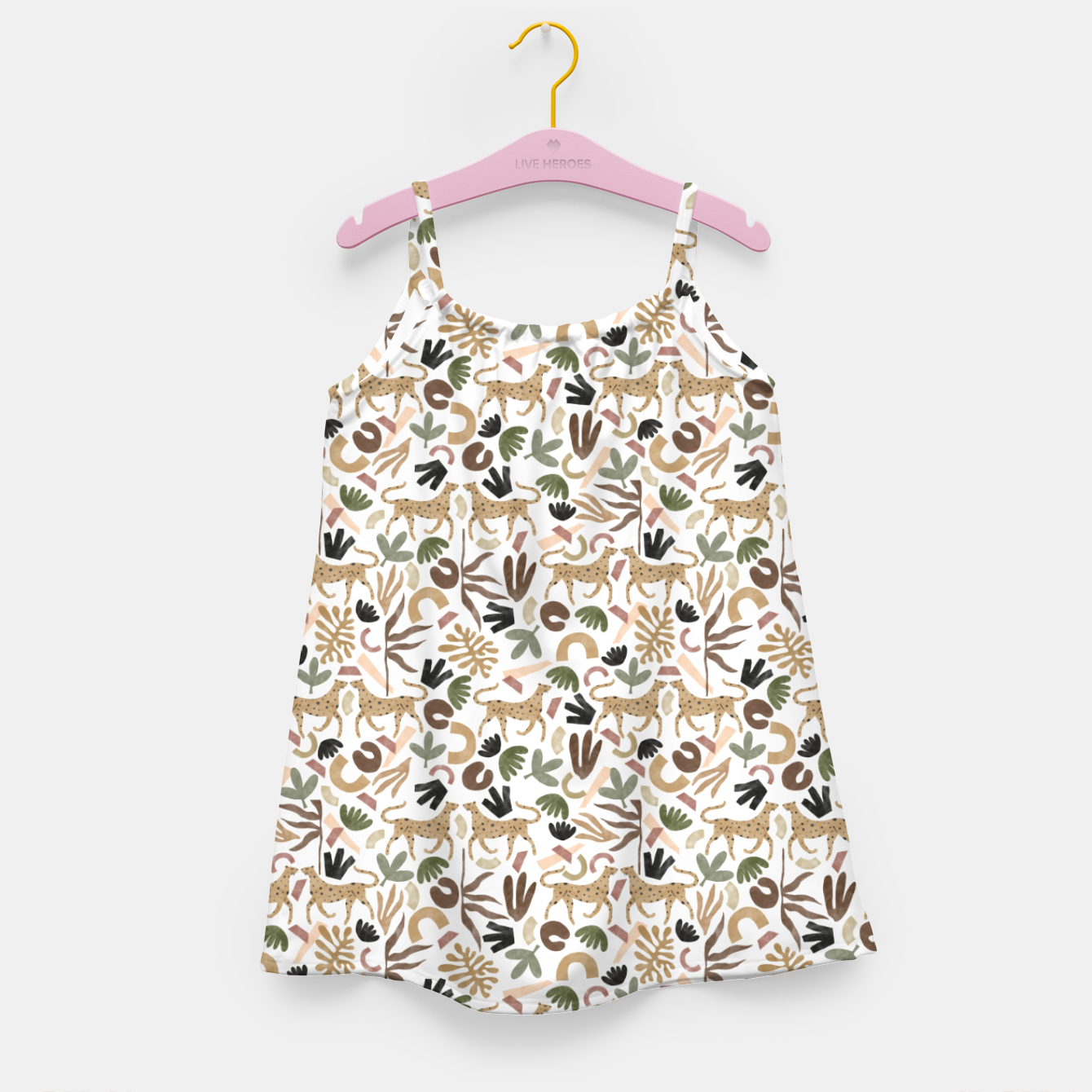 Image of Leopards in modern nature UI Vestido para niñas - Live Heroes