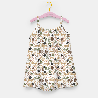 Leopards in modern nature UI Vestido para niñas miniature