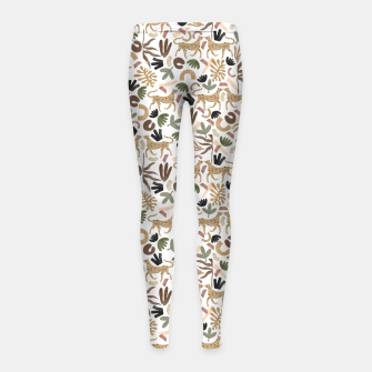 Leopards in modern nature UI Leggings para niña Bild der Miniatur