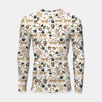 Thumbnail image of Leopards in modern nature UI Longsleeve rashguard, Live Heroes