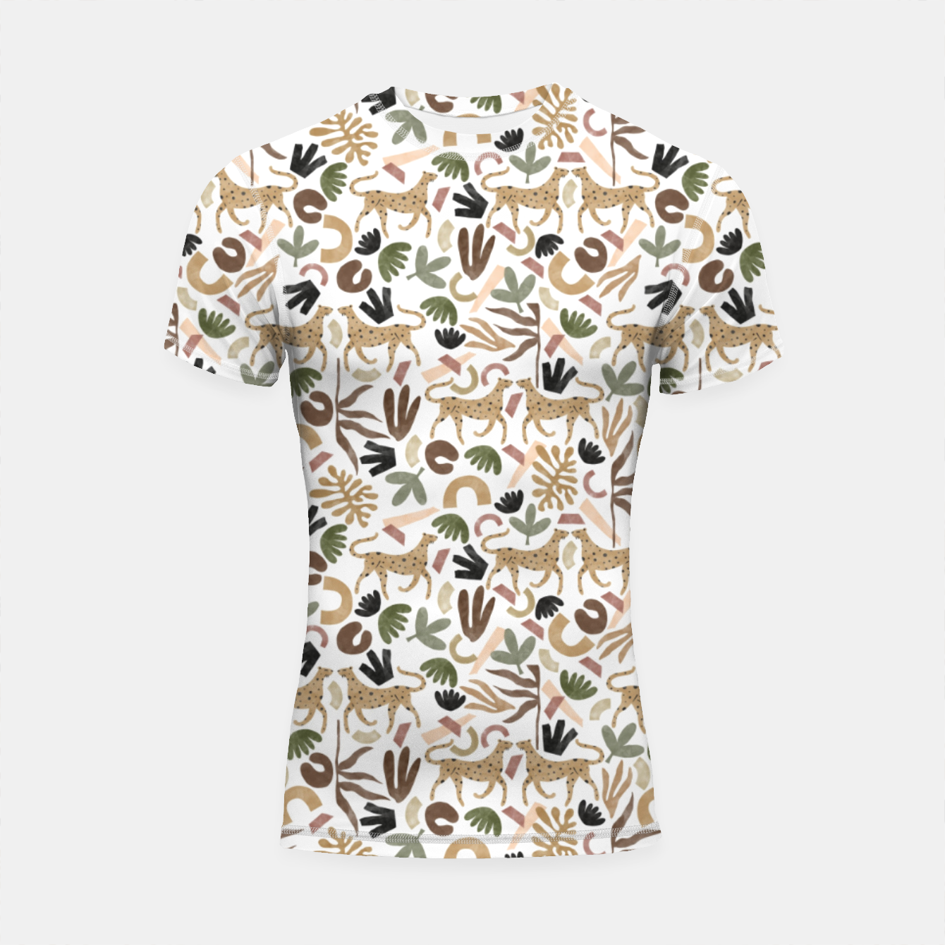 Foto Leopards in modern nature UI Shortsleeve rashguard - Live Heroes