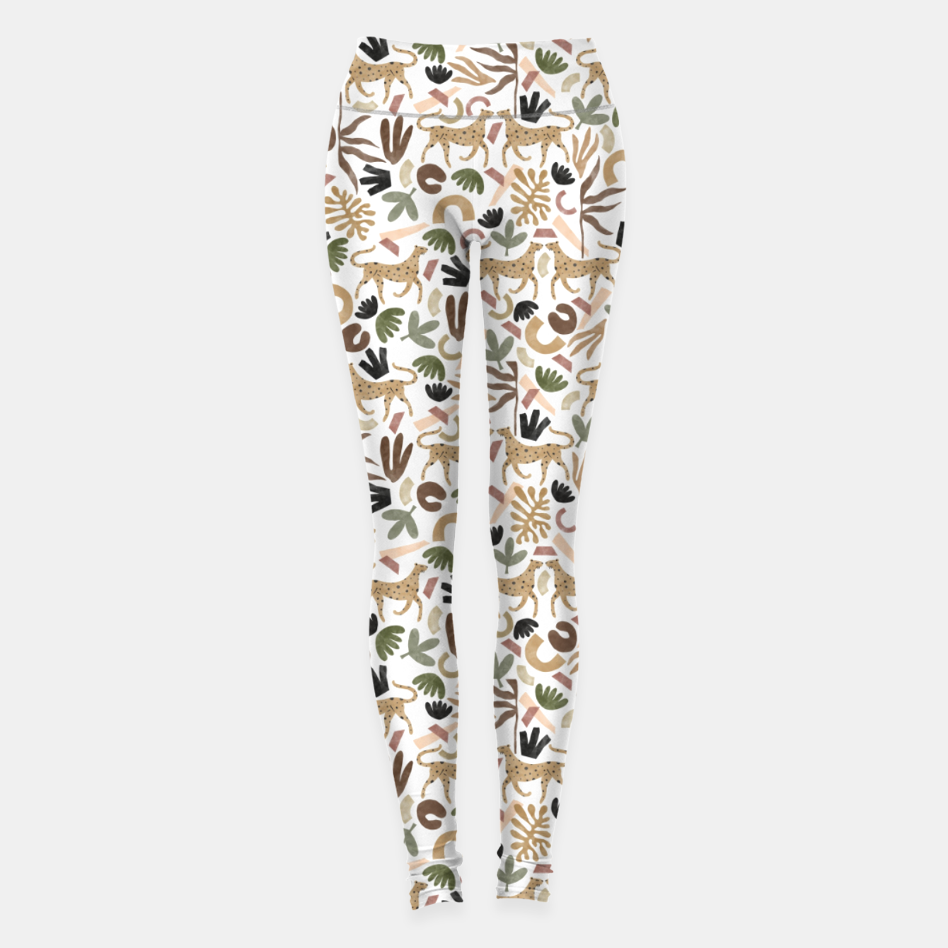 Image of Leopards in modern nature UI Leggings - Live Heroes