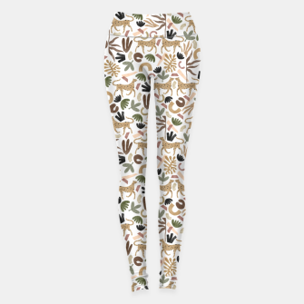 Leopards in modern nature UI Leggings miniature