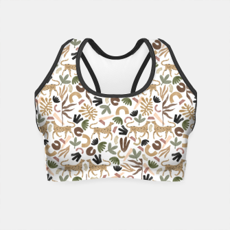 Leopards in modern nature UI Crop Top miniature