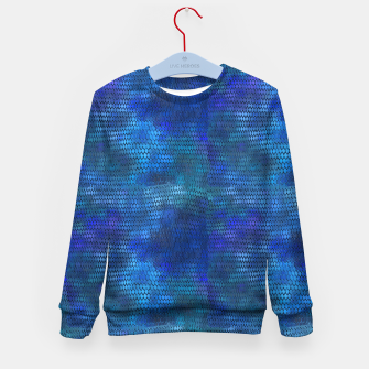 Miniatur Blue Dragon Scales Kid's sweater, Live Heroes