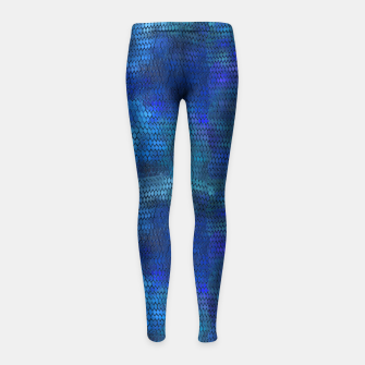 Thumbnail image of Blue Dragon Scales Girl's leggings, Live Heroes
