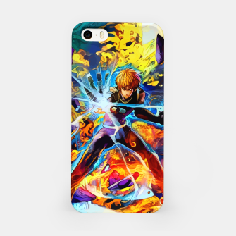 Thumbnail image of Blue cyborg Carcasa por Iphone, Live Heroes