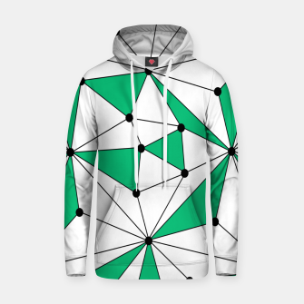Abstract geometric pattern - green and white. Hoodie thumbnail image